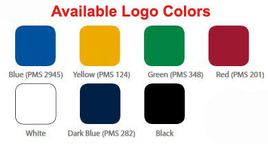 7 Different Logo Imprint Colors Available
