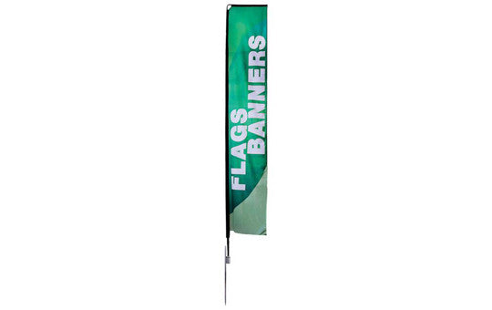 Mamba Large 16.8 Foot Single Sided Flag and Stand Combo