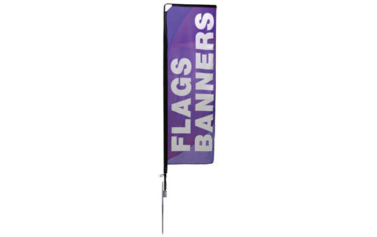 Mamba Small 10.125 Foot Single Sided Flag and Stand Combo