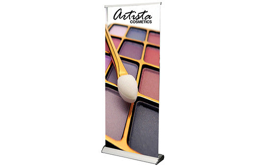 "Maui Retractable Banner Stand 33.5"" W by 69"", 80"" or 92"" H"