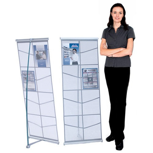 Mesh Double Literature Stand - Magazine Rack