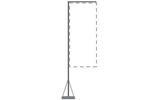 Mondo 13 Foot Flagpole Stand and Base Only