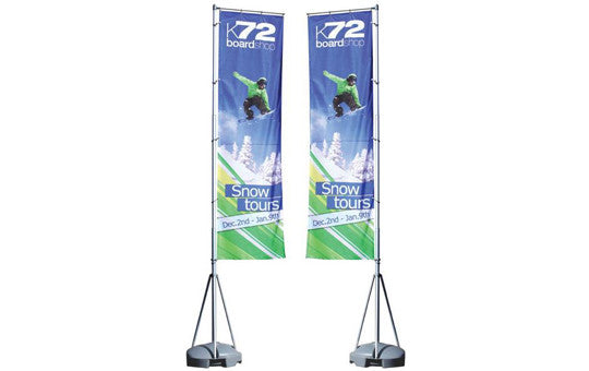 Mondo Flag Display 13 Foot Double Sided Flag and Stand Combo