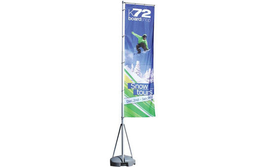 Mondo Flag Display 13 Foot Single Sided Flag and Stand Combo