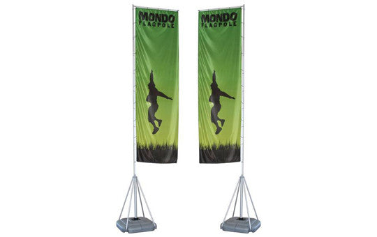Mondo Flag Display 17 Foot Double Sided Flag and Stand Combo