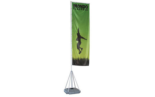 Mondo Flag Display 17 Foot Single Sided Flag and Stand Combo