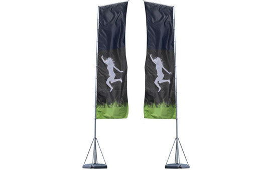 Mondo Flag Display 23 Foot Double Sided Flag and Stand Combo