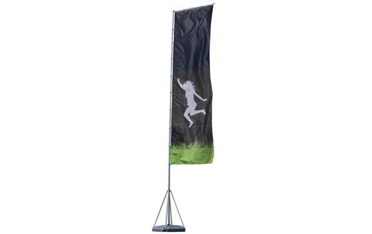 Mondo Flag Display 23 Foot Single Sided Flag and Stand Combo