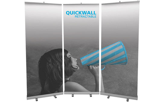Mosquito Quick Wall 96 inch wide by 78 inch tall back wall display retractables