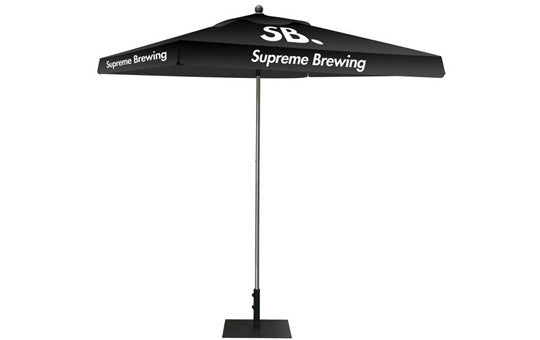 Square Shaped Indoor Outdoor Umbrella Display 1 Imprint Black Top Frame and Hardware Combo