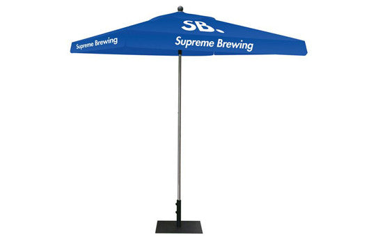 Square Shaped Indoor Outdoor Umbrella Display 1 Imprint Blue Top Frame and Hardware Combo
