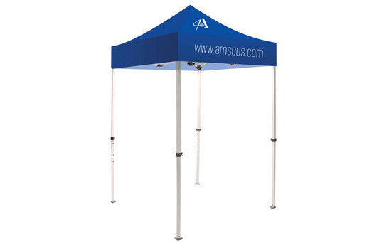 1 Color Imprint Blue Top – 5 Foot Custom Canopy Tent Steel Frame and Graphic Combo