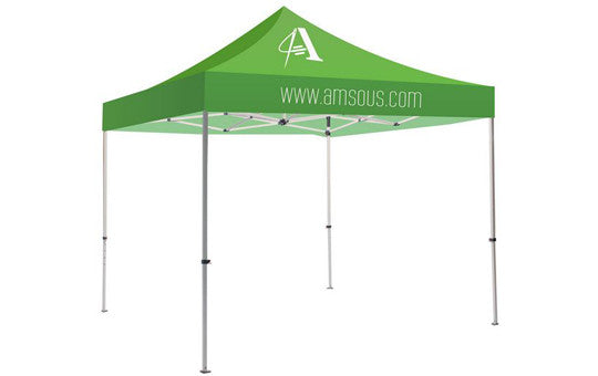1 Color Imprint Green Top – 10 Foot Custom Canopy Tent Steel Frame and Graphic Combo