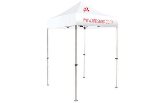 1 Color Imprint White Top u2013 5 Foot Custom Canopy Tent Steel Frame and Graphic Combo  sc 1 st  Lets Go Banners & 1 Color Imprint White Top u2013 5 Foot Custom Canopy Tent Steel Frame ...