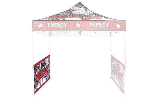 Double Sided 1 Half Side Wall Full Color For 10 Foot Custom Canopy Pop Up Tent Graphic Only