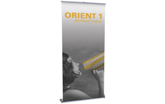 Orient Single Sided 31 inch wide retractable banner stand