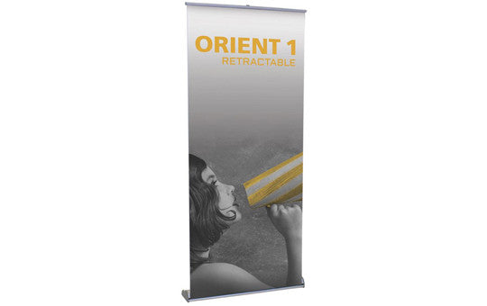 "Orient 39.5"" W by 83.25"" H Single Sided Retractable Banner Stand"