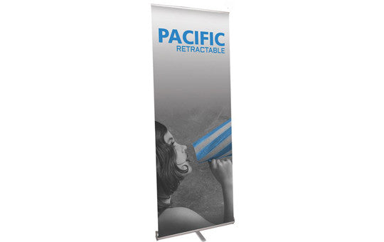 "Pacific 31.5"" W by 83.75"" H Single Sided Retractable Banner Stand"