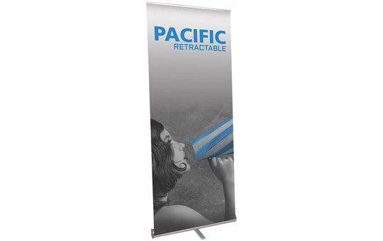 Pacific 35.5 inch by 83 inch retractable banner stand