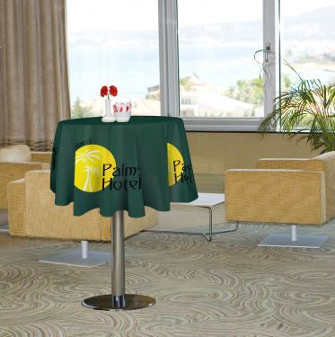Picture of custom round table cover