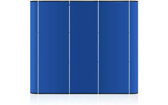 Pop Up 9 Foot Straight Blue Fabric Panels Only