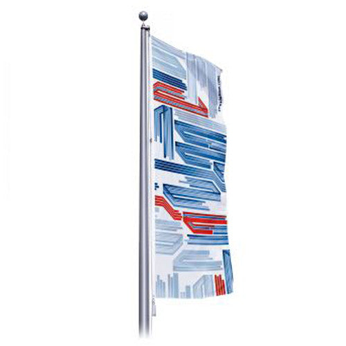 "6"" Wide by 12"" H Single Sided Custom Outdoor Pole Flag ""Portrait Layout"""
