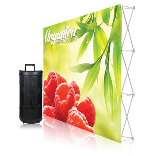 Ready Pop Fabric Pop Up Trade Show Display 10 foot Single Sided Straight Graphic and Frame Combo no End-Caps