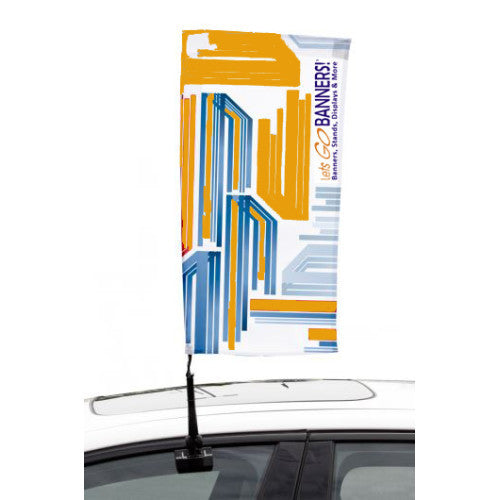 Car Bowflag® Rectangular Double Sided Graphics Package QTY: 10