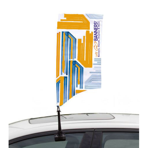 Car Bowflag® Rectangular Curve Single Sided Graphics Only QTY: 25