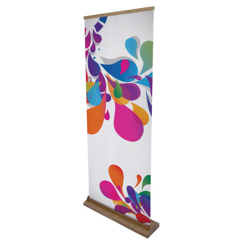 "33.6"" W by 79.2"" H Bamboo Roll Up Vinyl Standard 13 oz Graphics Only"