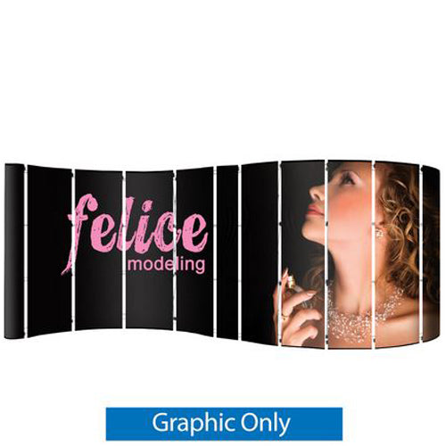 Serpentine 20 Foot Pop Up Display Laminated Graphics Only