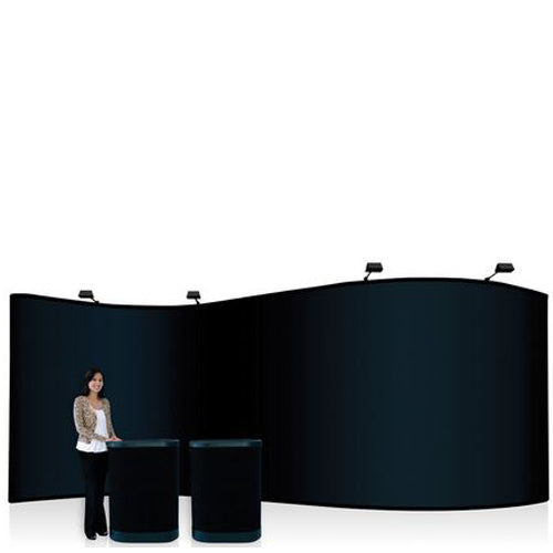 Serpentine 20 Foot Pop Up Display Fabric and Frame Combo