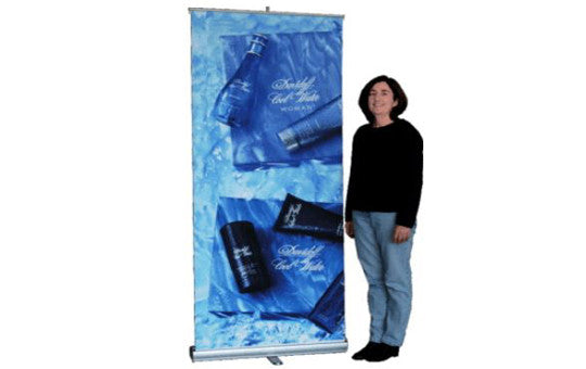 Slim Line Rolly Up Retractable Banner Stand 47 inches wide