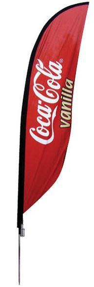 Feather Banner Small Single Sided Graphic Package