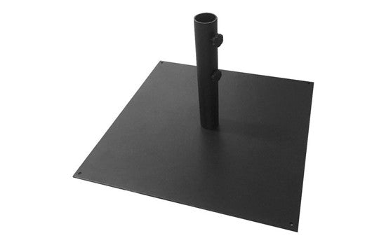 Square Iron Base for outdoor umbrella stand displays
