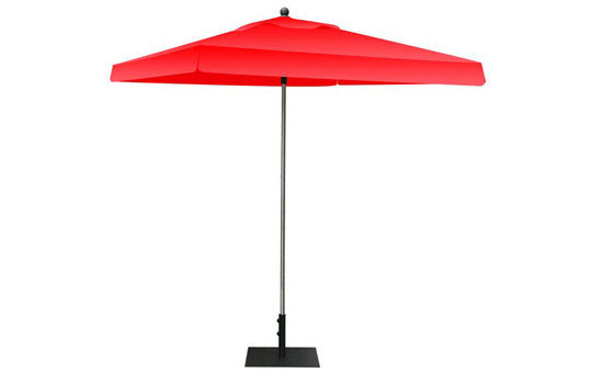 Square Shaped Indoor Outdoor Umbrella Display Blank Red Top and Frame