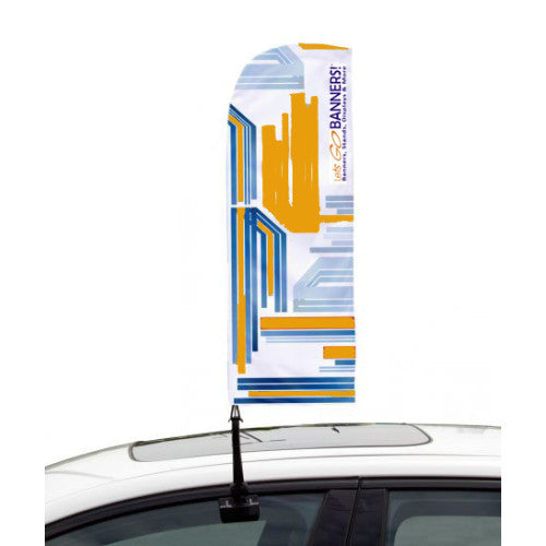 Car Bowflag® Straight Double Sided Graphics Package QTY: 25