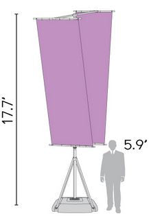 T-Pole Vertical Parallel Size Chart
