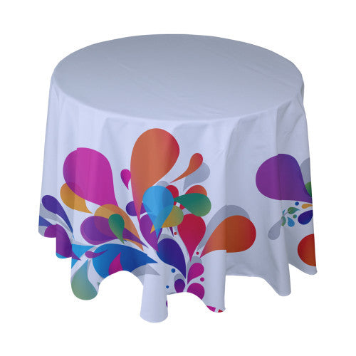 Standard Round Table Cover with Full Color Custom Imprint