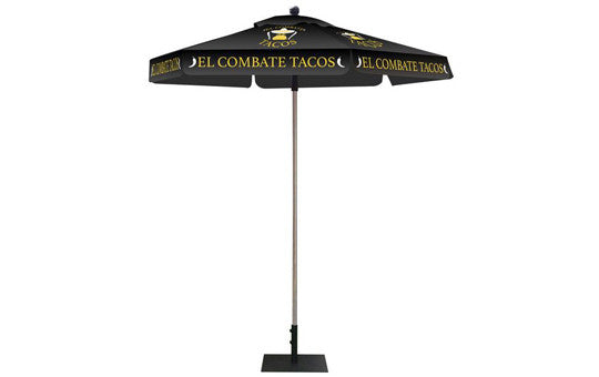 Hexagon Shaped Umbrella 2 Color Black Top and Frame Combo