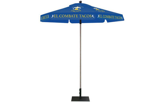 Hexagon Shaped Umbrella 2 Color Blue Top and Frame Combo