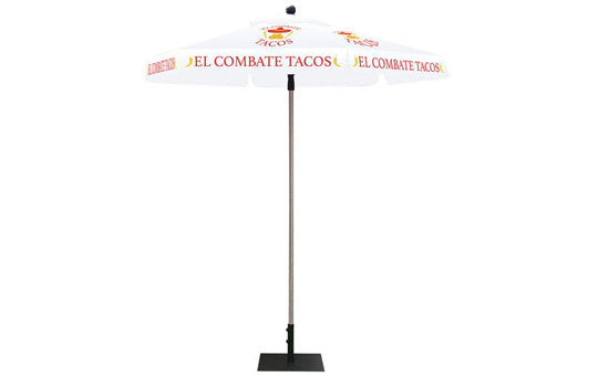 Hexagon Shaped Umbrella 2 Color White Top and Frame Combo