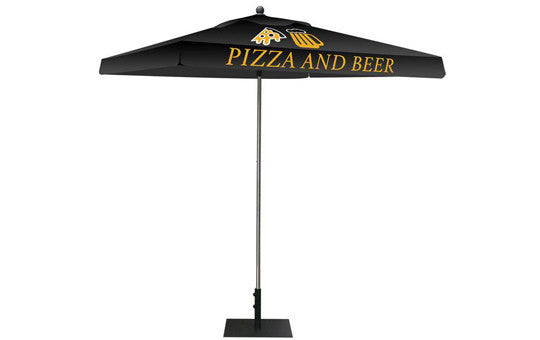 Square Shaped Indoor Outdoor Umbrella Display 2 Imprint Black Top Frame and Hardware Combo