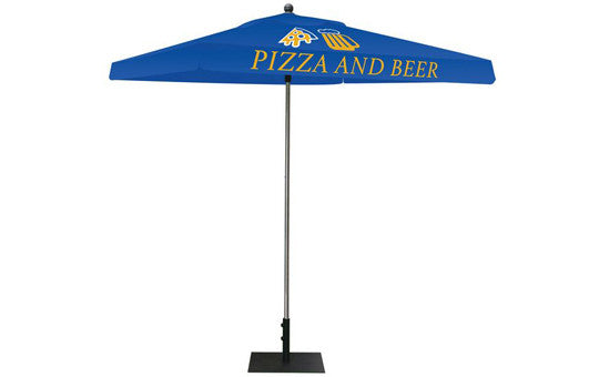 Square Shaped Indoor Outdoor Umbrella Display 2 Imprint Blue Top Frame and Hardware Combo