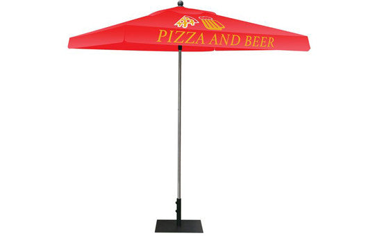 Square Shaped Indoor Outdoor Umbrella Display 2 Imprint Red Top Frame and Hardware Combo