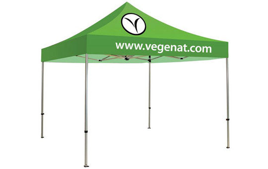 2 Color Imprint Green Top - 10 Foot Custom Canopy Tent Aluminum Frame and Graphic Combo