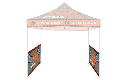 Single Sided 2 Half Side Walls Full Color For 10 Foot Custom Canopy Pop Up Tent Graphic and 4 Steel Rails