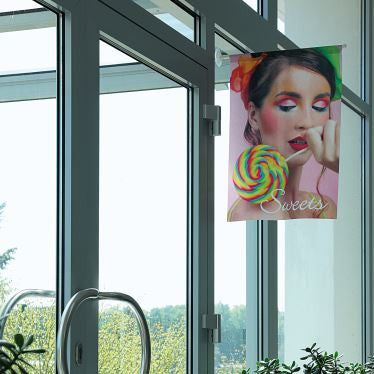 Window flag and banner hanging kit picture