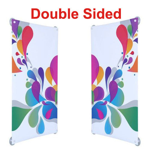 Window Hanging Kit Double Sided 2.6' W x 1.3' H Flush Mount Graphic and Hardware