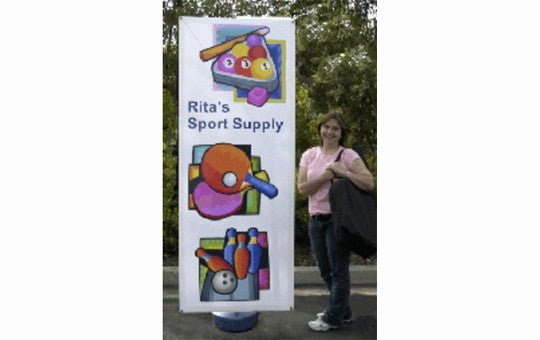 Double Sided Windwise Outdoor Banner Stand With Sand Or Water Base for added stability